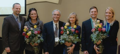 Pictured from left to right: Mike Bernard & wife Cheryl; Jim Micheff & wife Gail; Justin Ringstaff & wife Chelli.